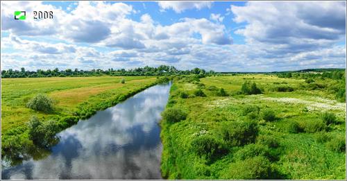 Борисоглеб, река Ушна - панорама