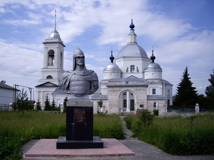 Памятник Александрву Невскому в Ворше