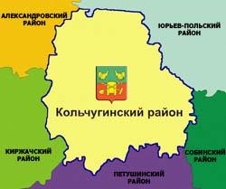 Кольчугинский район на Карте Владимирской области