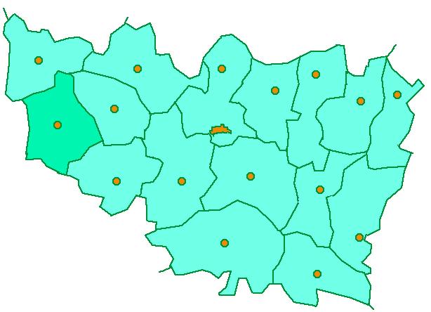 Киржачский район на карте Владимирской области
