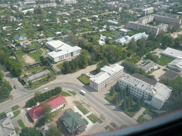 Центральная часть поселка Красная Горбатка