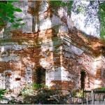 Церковь Иоанна Богослова - Северо-восточный угол церкви в уровне первого яруса