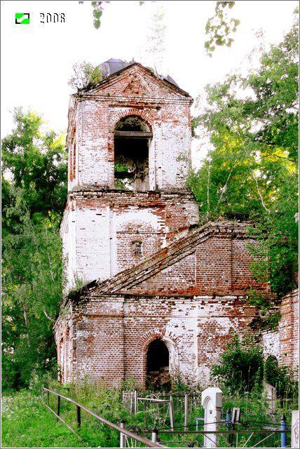 Церковь Иоанна Богослова - Южный фасад колокольни.