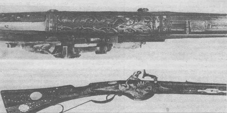 Никита Давыдов. Деталь Завестной пищали. 1630-1640. Музеи Кремля.
