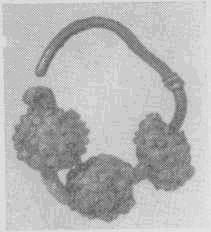 Славянские украшения. Трехбусенные височные подвески с зернью