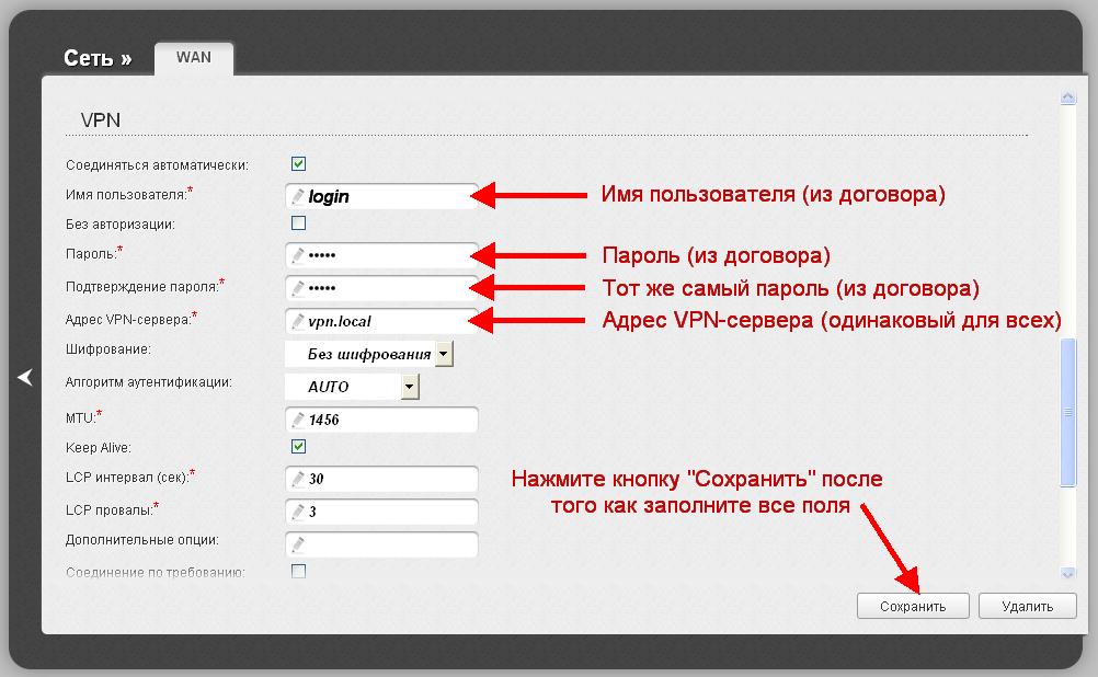 Dir-615 M1 Расширенные настройка - WAN - имя пользователя, пароль, VPN сервер