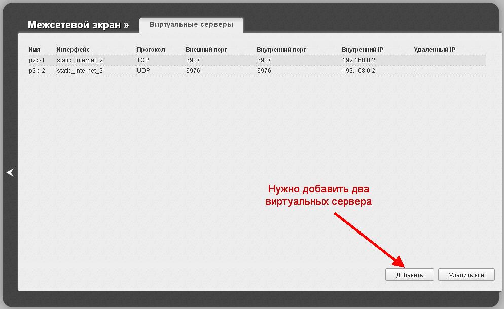 Dir-615 M1 виртуальные серверы и проброс портов