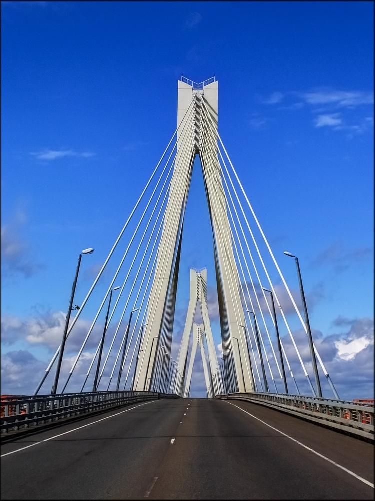 Вантовый мост через реку Оку