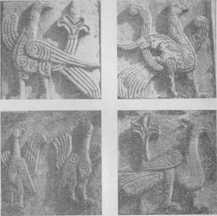Скульптуры на стене Дмитриевского собора
