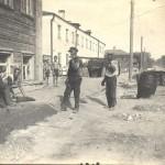 Асфальтирование тратуара по Школьному переулку 1933 год (Юрьев-Польский)