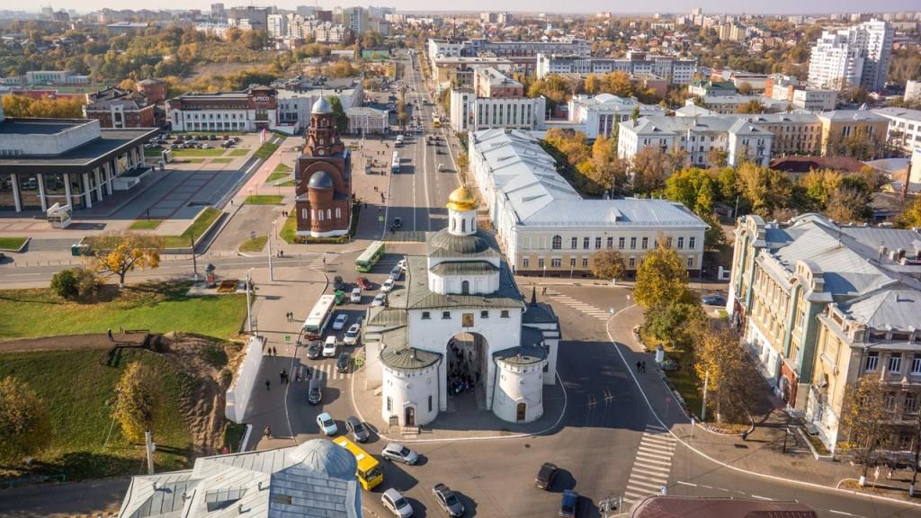 Золотые ворота Владимира. Фотография от проекта lestni.ca