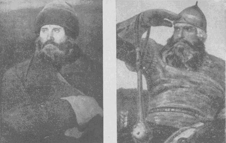 Крестьянин Владимирской губернии Иван Петров послужил моделью для образа Ильи Муромца в картине Богатыри