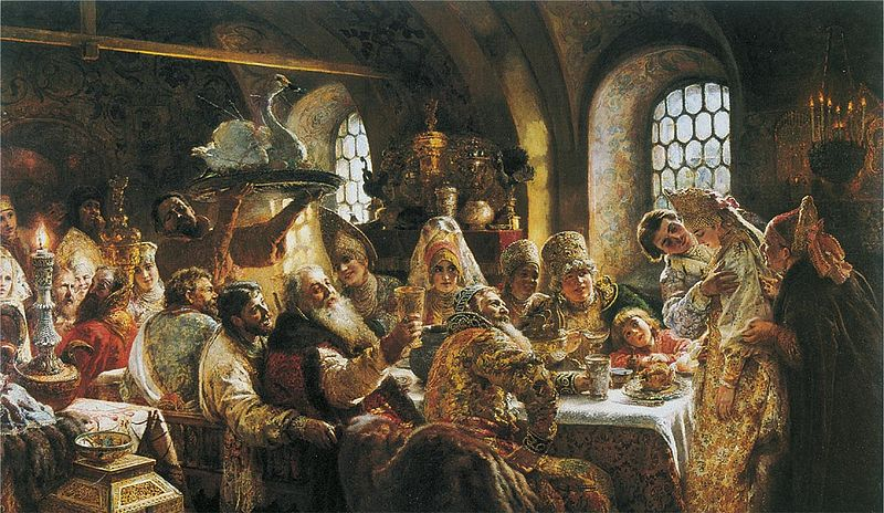 К. Е. Маковский - Боярский свадебный пир в xvii веке