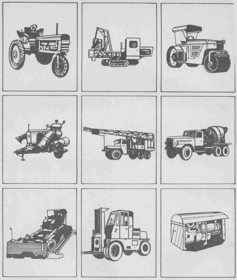 Машины на которых применяются двигатели Владимирского тракторного завода