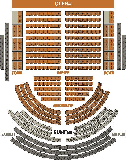План зрительного зала ДК 1100