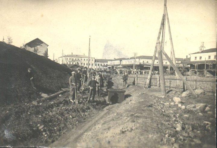 Прокладка дренажа от торговых рядов 1933 год  (Юрьев-Польский)
