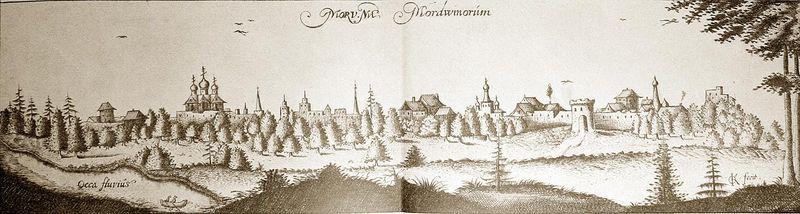 Город Муром в древности (старая картина)