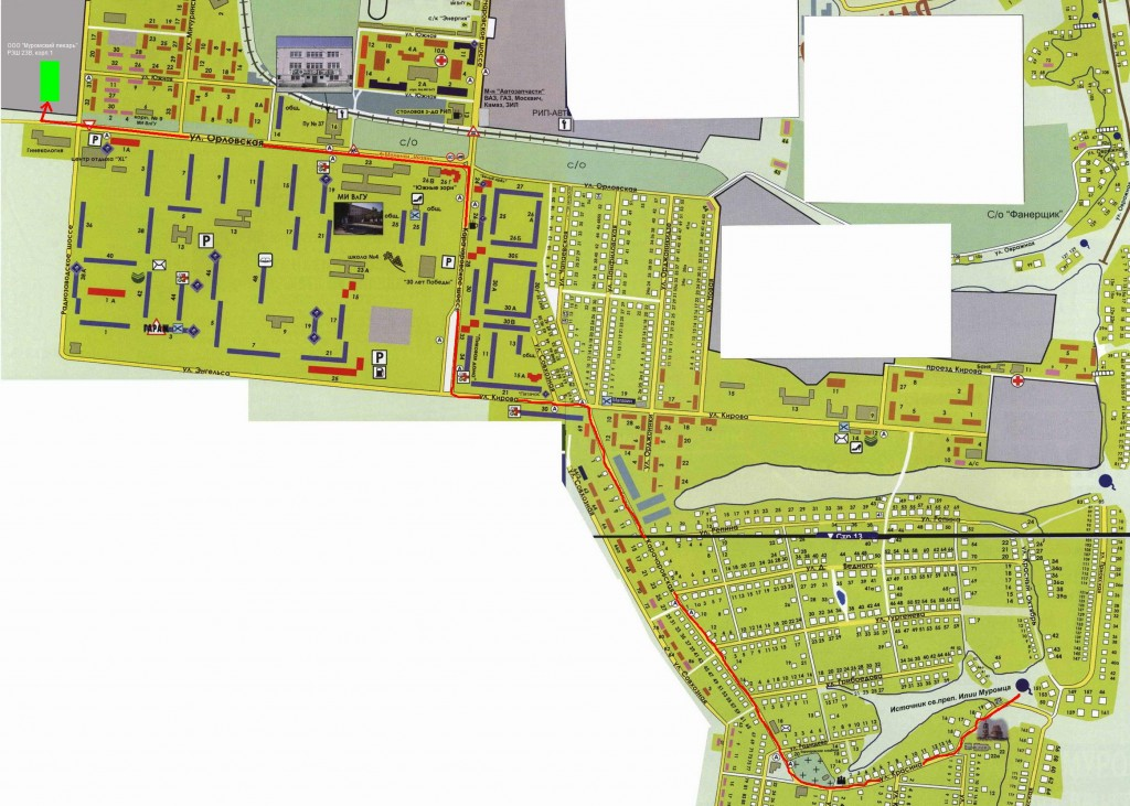 Карта проезда до Муромский калач