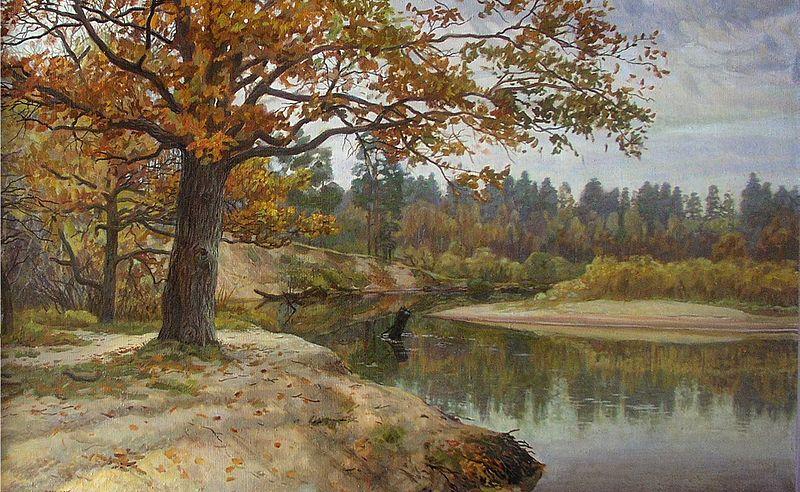 Картина М. Преснякова. Мещёрская осень. 2003-2005 гг.