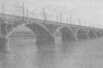 Мост через Клязьму открытиый в 1960 году