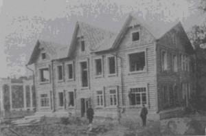 Строительство двухэтажных деревянных домов 1926-1927 годы. Архитектор А.П. Верещагин