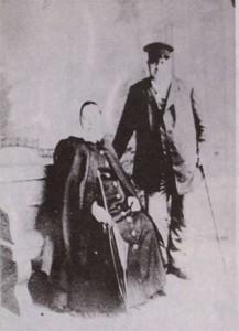 А.Г. Кольчугин со своей женой в конце жизни. 1898 год.
