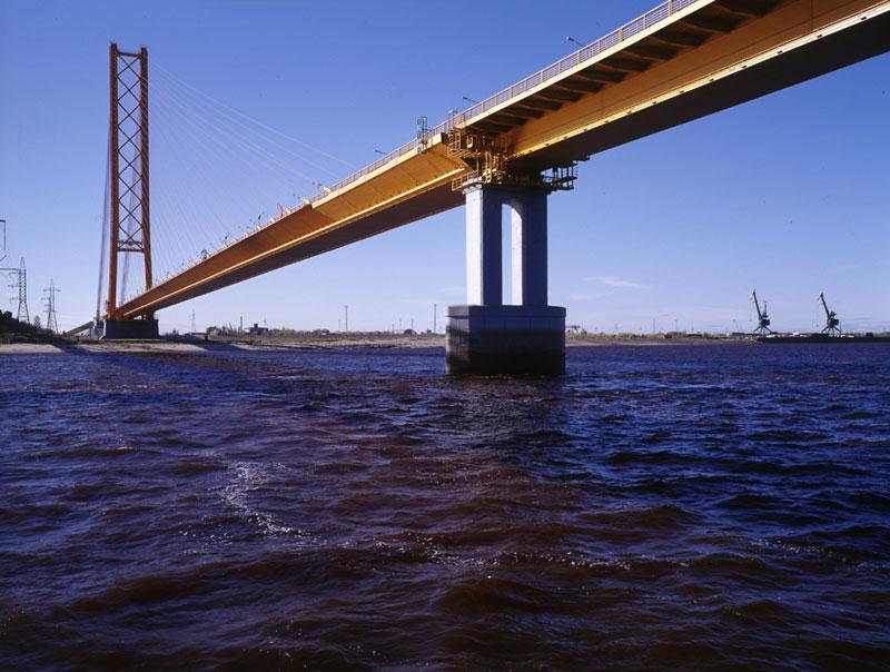 Мостовой переход через реку Обь в районе Сургута (Сургутский мост)