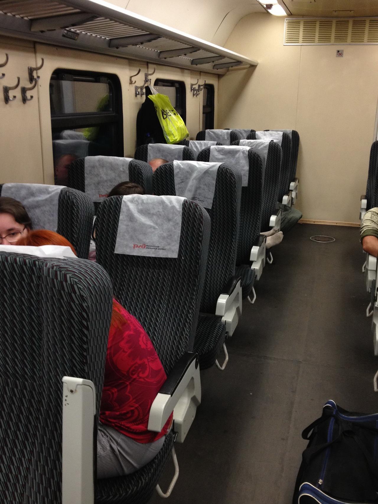 Сидячие места в поезде Муром-Москва