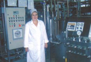 А.А. Хмелькова - аппаратчик пастеризации и охлаждения молока