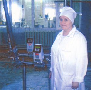 А.В. Дудукина - аппаратчик пастеризации и охлаждения молока