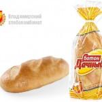 Батон «Дачный» в упаковке Владимирского хлебокомбината
