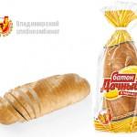 Батон «Дачный» нарезанный в упаковке Владимирского хлебокомбината