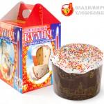 Кекс Донской со свечой и подсвечником в комплекте