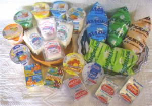 Продукция судогодского молочного завода