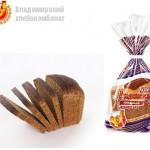 Хлеб Владимирский заварной формовой в упаковке (нарезанная часть изделия) Владимирского хлебокомбината