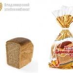 Хлеб дарницкий формовой в упаковке (часть изделия) Владимирского хлебокомбината