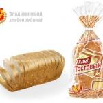Хлеб тостовый формовой нарезанный в упаковке Владимирского хлебокомбината
