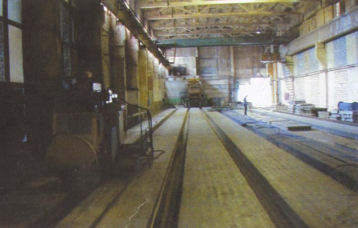 Технологическая линия «Тэнсиланд» - это 8 дорожек длиной 120 метров каждая, на которые натягивается арматура и при помощи специальной машины заливается бетон. По такой технологии можно производить плиты длиной до 9 м, тогда как по традиционному формовочному методу выпускались плиты максимальной длиной 7,2 м.