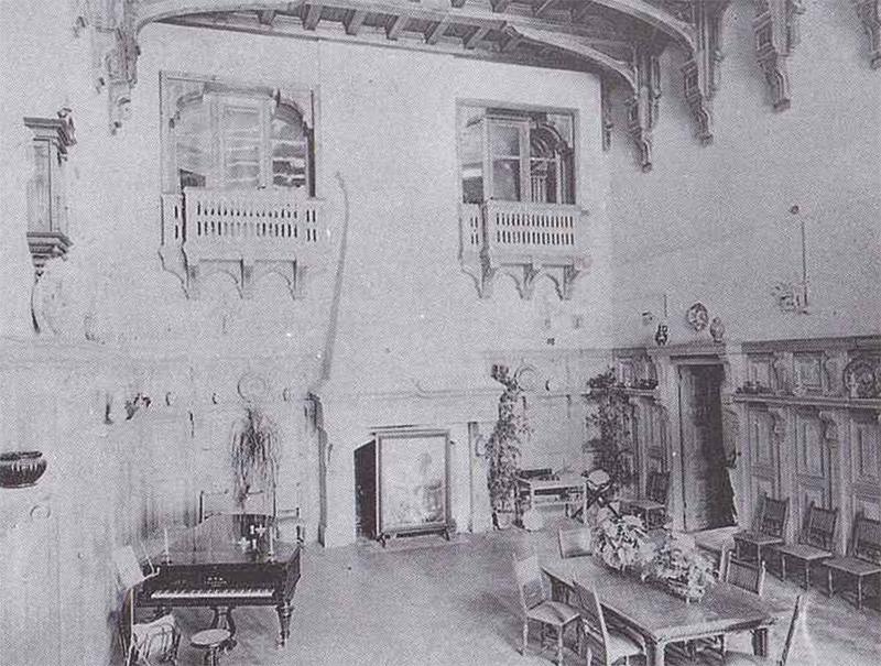 Один из залов дворца Храпавицкого