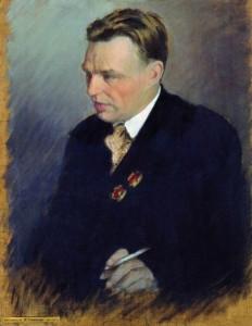 Портрет летчика В.П.Чкалова. 1938. Художник И.С.Куликов