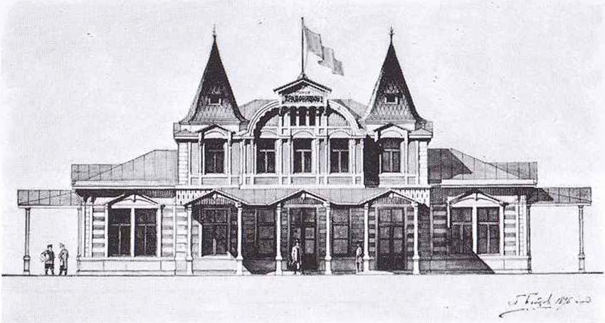 Проект вокзала на станции Муромцево. Архитектор П.С.Бойцов