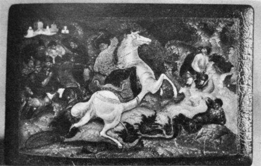 А. И. Брягин. Битва. 1933 Мстерский музей