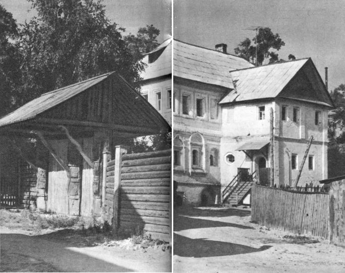 Гороховец. Древние ворота и бывший дом Сапожникова — Ершова. 1670—1680-е гг.