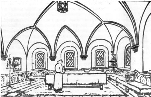 Гороховец. Крестовая палата гостя Ершова. Рисунок автора