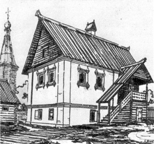 Гороховец. Однопалатный дом. Начало XVIII в. Реконструкция автора