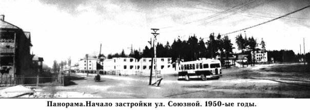 Ковров. Панорама. Начало застройки улицы Союзной. 1950-ые годы.
