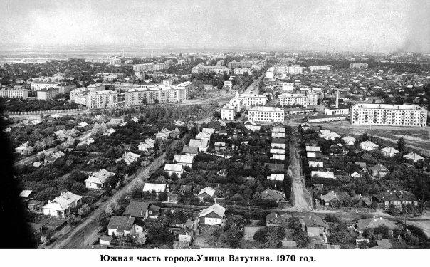 Ковров. Южная часть города. Улица Ватутина. 1970 год.