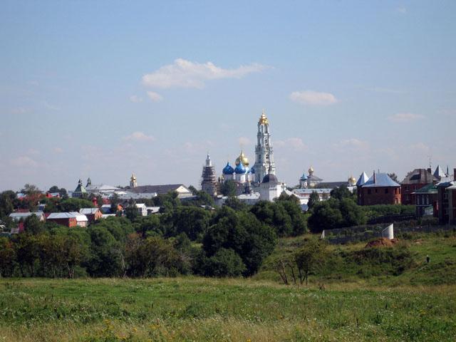 Вид на Сергиев Посад с северо-запада