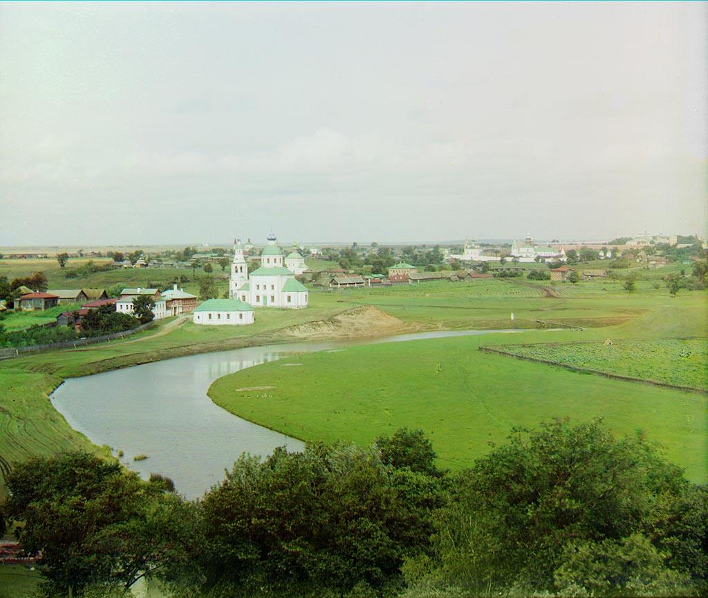 Ильинская церковь и Церковь Иоанна Богослова (не сохр.) в 1912 году (фото Прокудин-Горский)