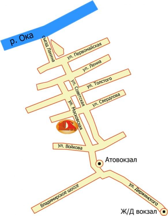 Гостиница Лада в Муроме - Схема проезда